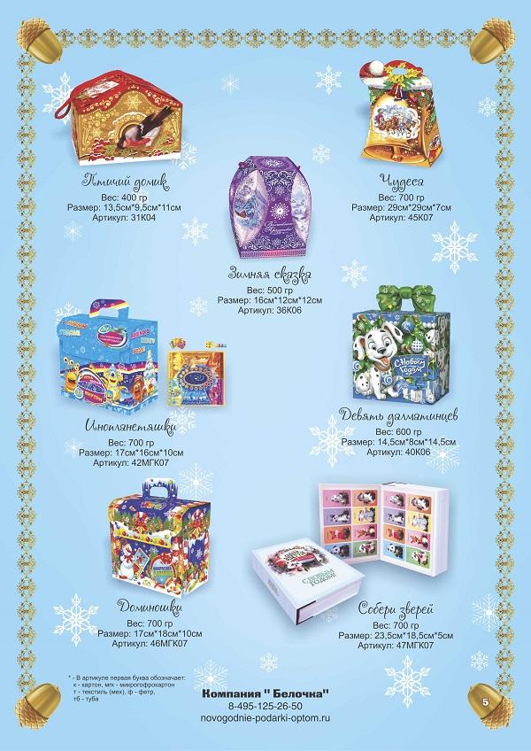 Новогодние подарки каталог с ценами 840